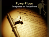 PowerPoint Template - One image of scanned bill edited in adobe photo shop and X3D.