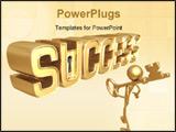 PowerPoint Template - concept & presentation figure 3d