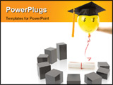 PowerPoint Template - balloon and Black Mortarboard high pay jobs
