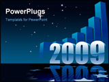 PowerPoint Template - New Year 2009 and a large graph conceptual business illustration.