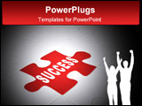 PowerPoint Template - Success. Abstract background from parts 3d puzzle