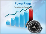 PowerPoint Template - Business Success - graph clock . illustration and photo