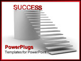 PowerPoint Template - stairway leads to success