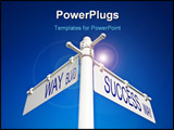 PowerPoint Template - street post with limitless blvd and confidence way signs