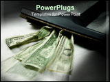 PowerPoint Template - Vaccum sucking up money in a spot light