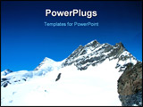 PowerPoint Template - Summit of snow mountain in Switzerland in summer