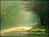 PowerPoint Template - sunbeam in forest