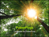 PowerPoint Template - Sunburst in the forest for nature background
