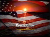 PowerPoint Template - America patriotic concept with sunrise over ocean.