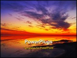 PowerPoint Template - Sunrise over the Salty Lakes in Tunisian desert in February 2009