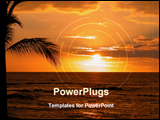 PowerPoint Template - Beautiful Sunset at the Big Island of Hawaii