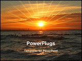 PowerPoint Template - beautiful vibrant sunset at the end of a hot summer day