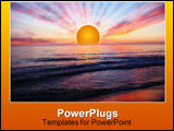 PowerPoint Template - A sunset at Orre beach in Norway.