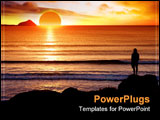 PowerPoint Template - Silhoutte of man looking into the sunset