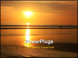 PowerPoint Template - Photo of a beautiful sun set in bali beach