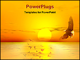 PowerPoint Template - a beautiful view of sunset