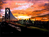 PowerPoint Template - Bridge at night Marco sunset