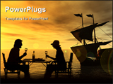 PowerPoint Template - Couple enjoying a meal by the seaside