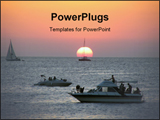 PowerPoint Template - Nice and famous Ibiza sunset