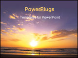PowerPoint Template - sundown at beach