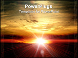 PowerPoint Template - sun in evening