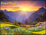 PowerPoint Template - Majestic sunset in the mountains landscape. HDR image
