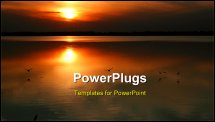 PowerPoint Template - Sunset at Quivira National Wildlife Refuge