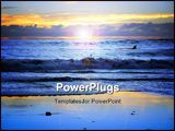 PowerPoint Template - sunset at california beach