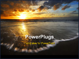 PowerPoint Template - beautiful sunset and waves on the beach