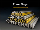 PowerPoint Template - Supply Chain Business Logistics in 3d Focus