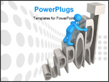 PowerPoint Template - Computer generated 3d image - Support .