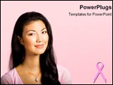 PowerPoint Template - Woman smiles in the face of breast cancer.