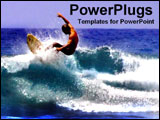 PowerPoint Template - surfer riding a wave