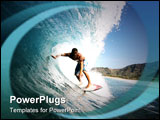 PowerPoint Template - awaii has some of the best surf breaks in the world. Brian Pacheco pulls into a tube on Feb. 27, 20