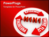 PowerPoint Template - swine flu concept computer generated illustration for special disign