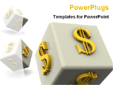 PowerPoint Template - 3D dollars on dice