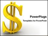 PowerPoint Template - image of standing 3D dollar