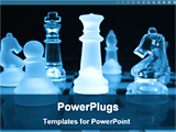 PowerPoint Template - image of crystal chess