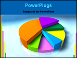 PowerPoint Template - 3d pie graph with different colored segments