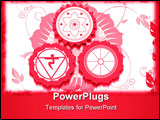PowerPoint Template - Illustration of Hindu religious symbols with red colour