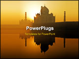 PowerPoint Template - Dawn at the Taj Mahal in Agra Northwest India