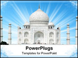 PowerPoint Template - he Taj Mahal was built at Agra, Uttar Pradesh, India by Emperor Shah Jahan as a mausoleum for his w