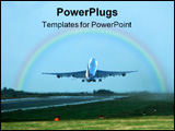 PowerPoint Template - Jet taking off, full power