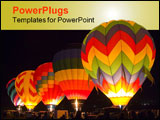 PowerPoint Template - hot air baloons getting ready to take off