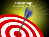 PowerPoint Template - classic target 3d with arrow metaphoric success background