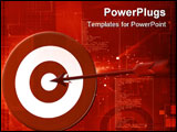 PowerPoint Template - Illustration of a symbol of a target