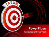PowerPoint Template - Dart hitting the bullseye of a red target