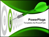 PowerPoint Template - uccessful dart reaching the green goal symbol a success or a business challenge the image is isolat