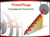 PowerPoint Template - target (metaphor with the graph
