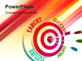 PowerPoint Template - Target success profit future hitting dart. Business concept